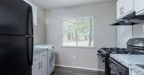 Photo Hardwood-Style Flooring, Custom Two-Tone Paint, Plush Carpeting