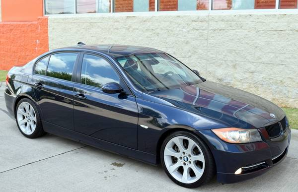 Photo Monaco Blue 2007 BMW 335i Sport - Black Leather - 6 Speed Manual - $8,999 (Raleigh)