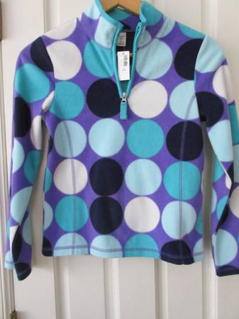 Photo Old Navy Girls Size 10-12 Polka Dot Fleece - Brand New - $10 (Cary)