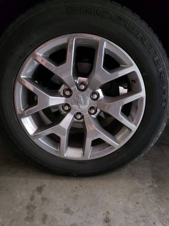 Photo 20 inch chrome for 20 inch black rims - $1 (Clarksville)