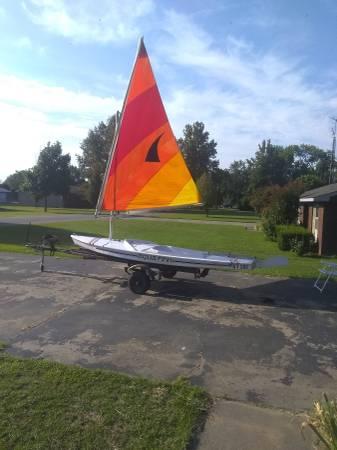Photo AQUA FINN Sailboat - $1,600 (Sikeston,MO.)