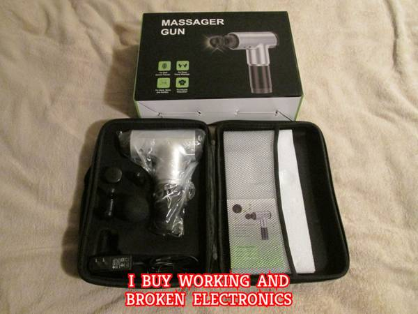 Photo Massage Gun Silver With Accessories New In Box - $75 (Bloomington)