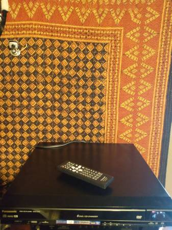 Photo Panasonic 5 disk dvd player with remote (paducah)
