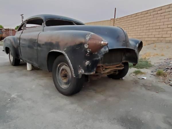 Photo 1951 Chevy Fleetline Project Car - $5,250 (Indio)