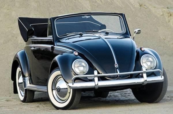 Photo 1955-67 VW Volkswagen Bug Beetle Front Bumper with Overrider - $125 (Morongo Valley)