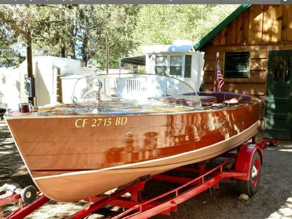 Photo 1957 Chris Craft Sportsman 17ft wooden boat - $28,000 (Palm Desert)
