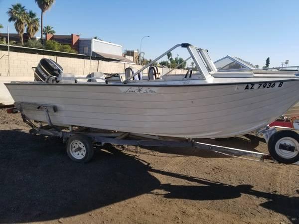 1964 lonestar aluminum boat great classic battle boat - $1,450 (Tustin)