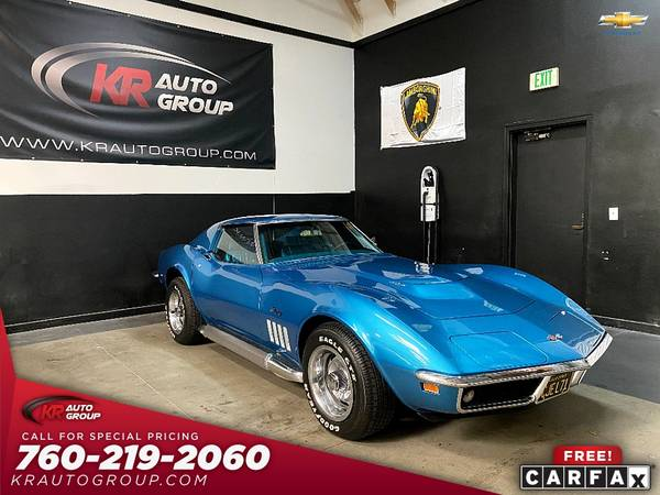 Photo 1969 corvette 427 big block4 spd manual42351 miles. - $59,950 (Palm Desert)