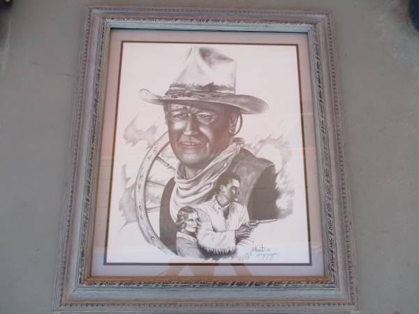 Photo 1981 JOHN WAYNE drawing - $250 (Morongo Valley)