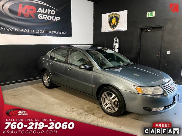 Photo 2005 SATURN ION 360063 MILES1 OWNERSUNROOFLEATHER - $4,950 (Palm Desert)