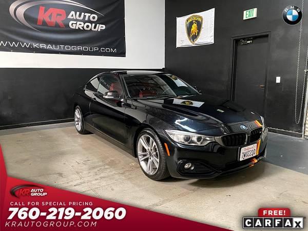 Photo 2014 BMW 428I MSPORTCARBON FIBER PACKAGESPORT PACKAGELIKE NEW - $18,950 (Palm Desert)