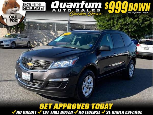 Photo 2016 Chevrolet Chevy Traverse LS Sport Utility 4D (- $999 Down oac - ALL CREDIT ACCEPTED HERE)