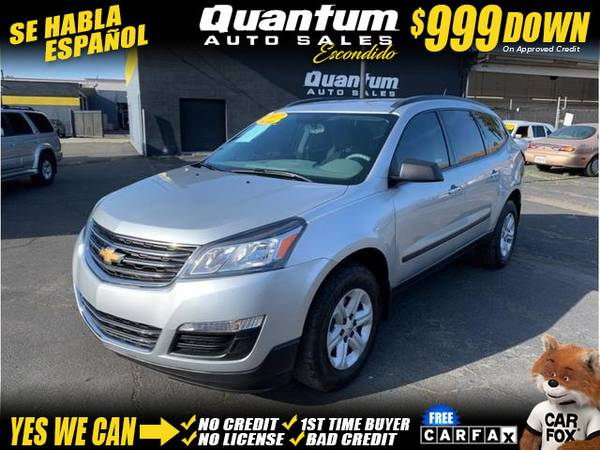 Photo 2017 Chevrolet Chevy Traverse LS Sport Utility 4D (- $999 Down oac GET APPROVED TODAY)