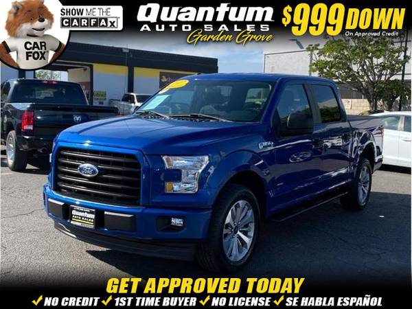 Photo 2017 Ford F150 SuperCrew Cab XL Pickup 4D 5 12 ft (- $999 Down oac - ALL CREDIT ACCEPTED HERE)