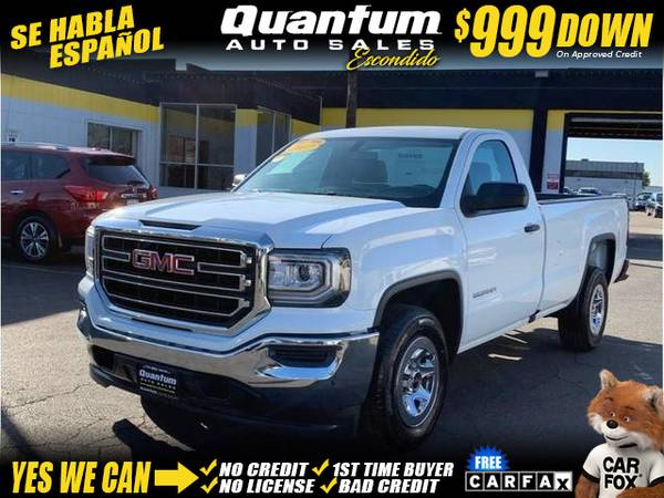 Photo 2017 GMC Sierra 1500 Regular Cab Pickup 2D 8 ft (- $999 Down oac GET APPROVED TODAY)