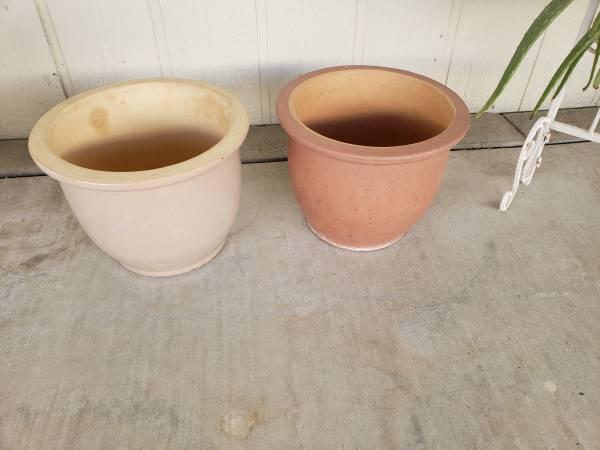 Photo 2 Ceramic Pots - $35 (Palm Desert)