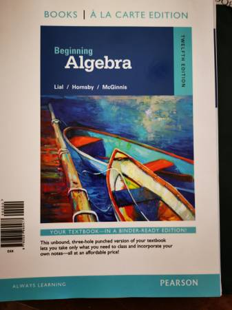 Photo Beginning Algebra and MyMathLab access card - $125 (Indio)