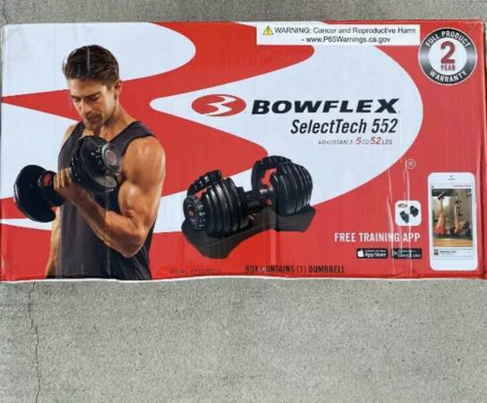 Photo Bowflex Dumbbells Pair 52.5lb each - $550 (La Quinta)