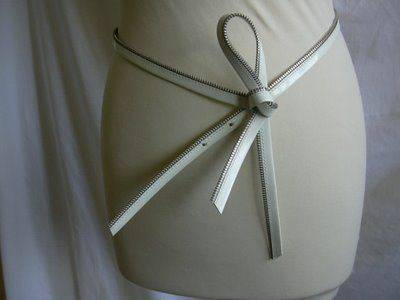 Photo Christian Dior Vintage Zipper Belt 30quot75cm Versace Belt BW EACH $100 - $100 (Palm springs)
