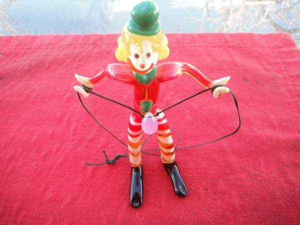 Photo Colorful MURANO glass figurine of a CLOWN, 5quot tall - $35 (Morongo Valley)