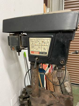 Photo Craftsman Floor Mount 15 12 , 8 speed Drill Press - $150 (Palm Springs)