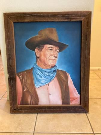 Photo John Wayne Oil Painting - $900 (Cathedral City)