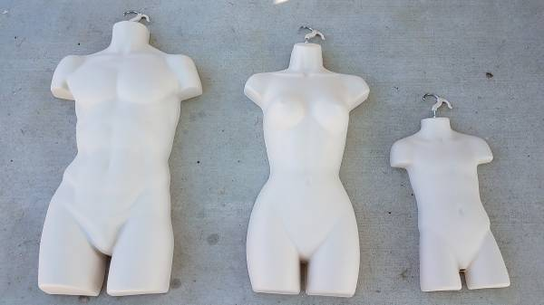 Photo Male, Female and Child - 3 Mannequin Dress Forms Set - Flesh Color - $15 (Desert Hot Springs)
