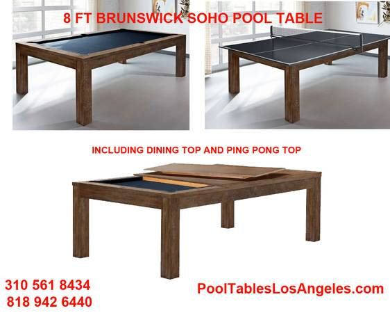 Photo POOL TABLES FREE INSTALLATION AND ACCESSORIES POOL TABLE (ORDER TODAY PLAY TOMORROW)