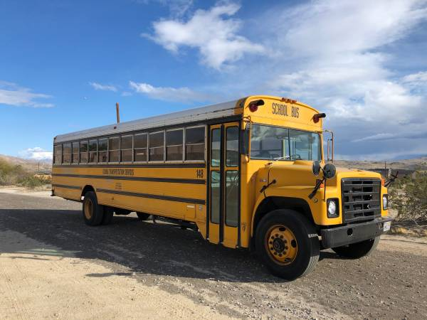 Photo School bus international dt466 Wayne body - $5200 (Desert hot springs)