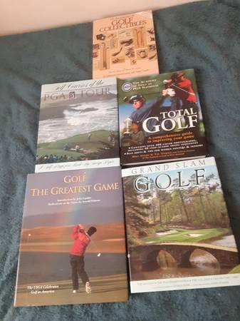 Photo Set of 4 PGA Tour Books and 1 Golf Collectibles Book - $10 (Rancho Mirage)