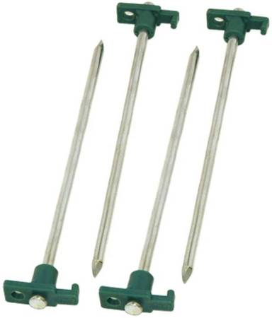 Photo Set of 6 quotTexsportquot Galvanized Heavy Duty Steel SpikesTent Peg Stakes - $10 (Palm Springs)