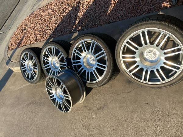 Photo Sparco Racing Forged 19quot Staggered Wheels  Tires 5 Lug 4.5quot Mustang.. (Palm Springs)