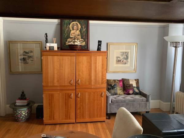 Photo URGENT Solid Cherry Wood Scandanavian Office Cabinet - $700 (san francisco)