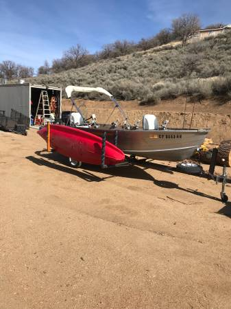 Photo Ultimate 14 foot aluminum Fishing Boat with Kayak Racks - $4,650 (Tehachapi)