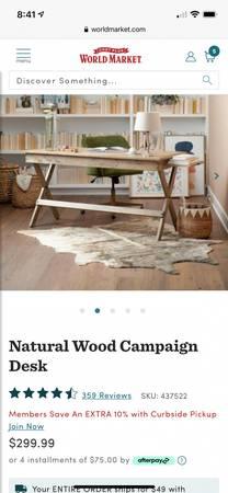 Photo World Market Desk  Chair - $300 (La Quinta)