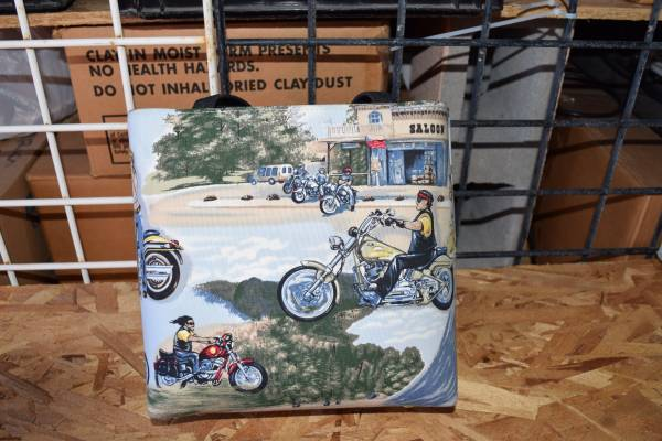Photo dylanstata - Purse with motorcycle motifs - $10 (Palm Springs)