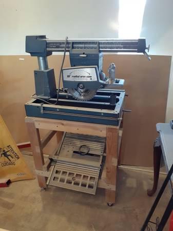 Photo powr kraft radial arm saw  craftsman band saw sander - $100 (Palm Desert)