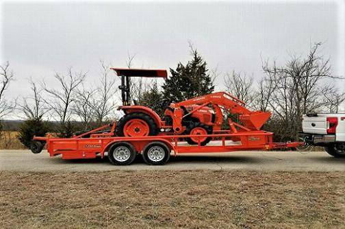 Photo Diesel Tractor KUBOTA L2501 tractor package loader trailer For Sale.. - $10,000