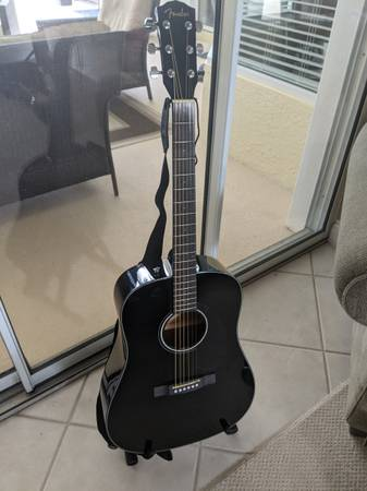 Photo Fender CD-60S Solid Top Dreadnought Acoustic Guitar - $250 (Panama City Beach)