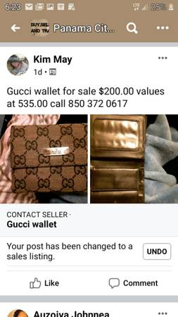 Photo Gucci wallet - $200 (Panama City Beach)