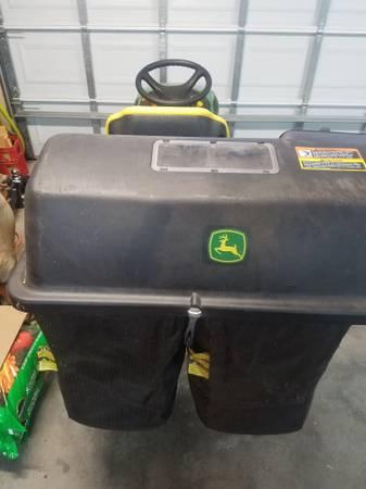 Photo John Deere grass bagger - $250 (Lynn haven)