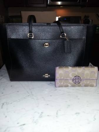 Photo MUST SELL TODAY Coach tote bag and wallet - $85 (Fountain)