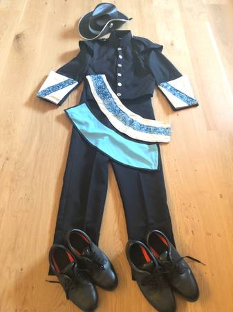 Photo Marching Band Uniform lightly used, black blue and silver, full set - $400 (Lynn Haven)