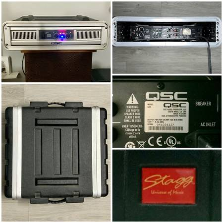 Photo QSC GX3 POWER AMPLIFIER 425 WATTS IN A STAGG UNIVERSE OF MUSIC ABS-2U - $220