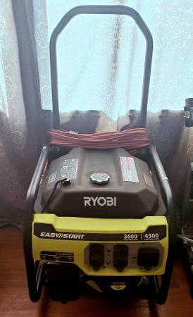 Photo Ryobi 45003600 Watt Gas Generator - $300 (Panama city beach)