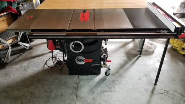 Photo Sawstop PCS175 professional cabinet saw with 36quot extension - $3000