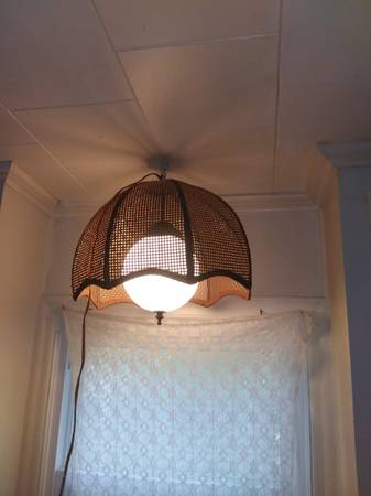 Photo Vintage Wicker Dome Hanging Light - $165 (Dothan)