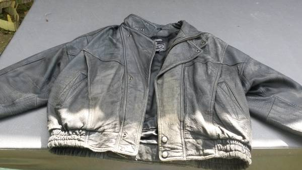 Photo Leather Motorcycle Jacket, XL Thinsulate Liner Harley-Davidson Style - $15 (Coshocton)