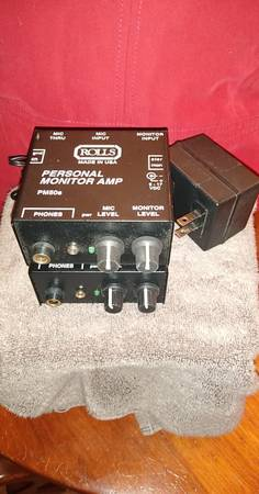 Photo Two (2) Rolls PM50S Personal Monitor Amp39s wone (1) Power Supply - $25 (Little Hocking)