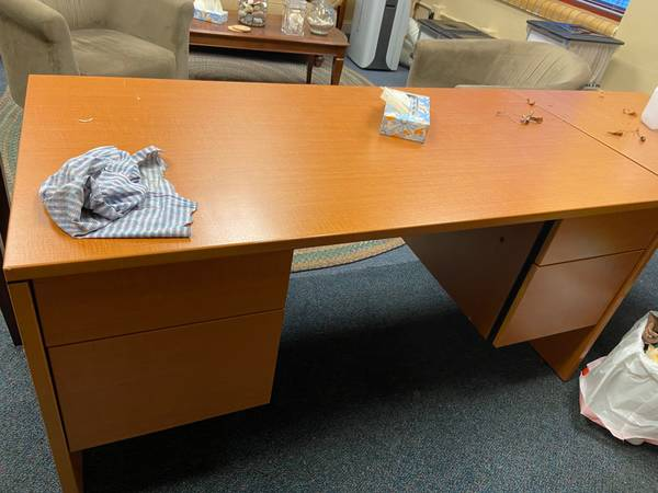 Photo Two Desk with Locking Drawers - $100 (Athens, Ohio)